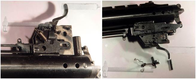 Как установить газовую пружину на Хатсан 125