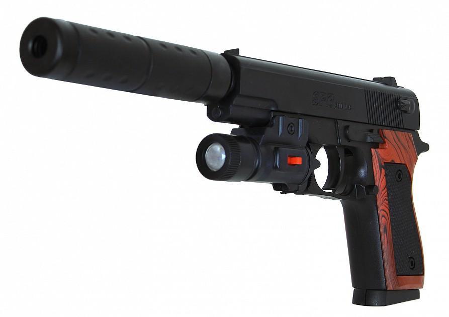 Пневматический пистолет с глушителем