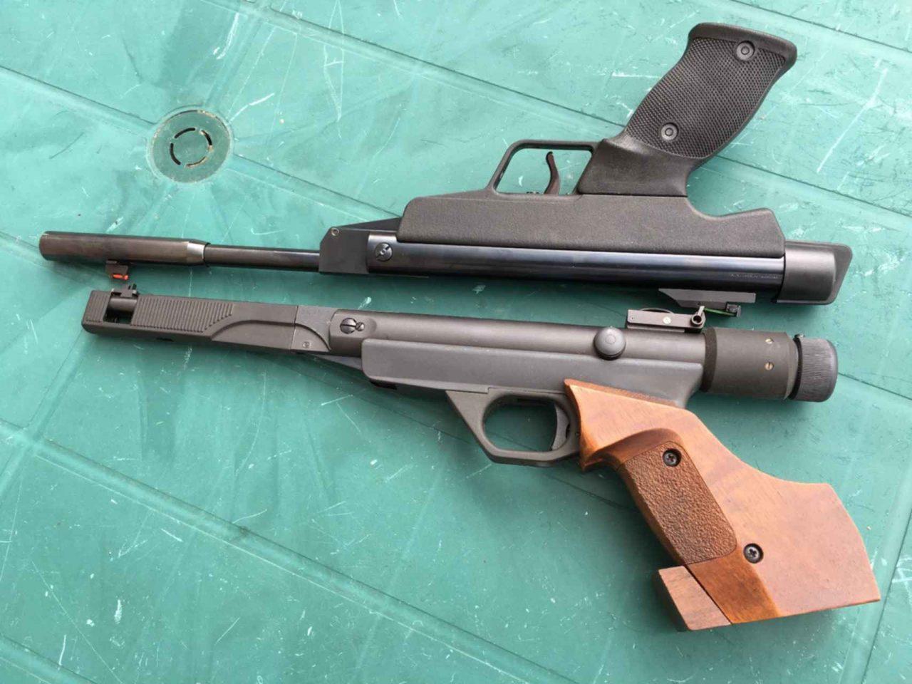 пневматический пистолет без газового баллона