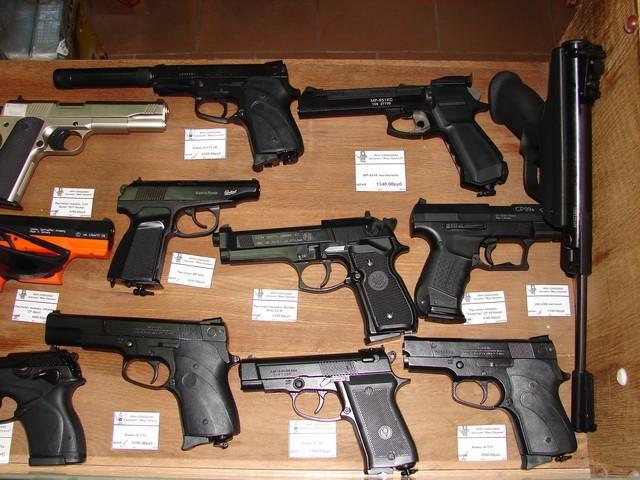 являются пулевые пневматические пистолеты