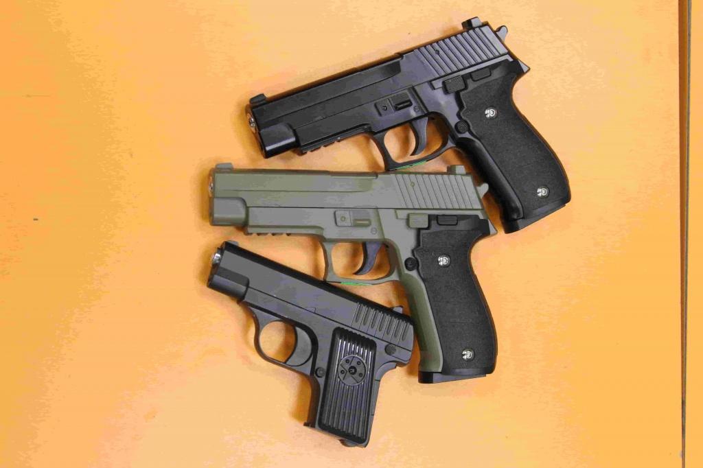 спринговые страйкбольные пистолеты