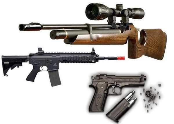 Принцип действия и устройство пневматического оружия
