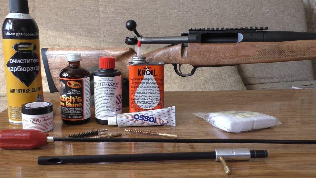 новные правила чистки пневматических винтовок