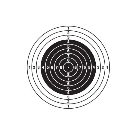 Распечатать мишени для стрельбы из пневматики