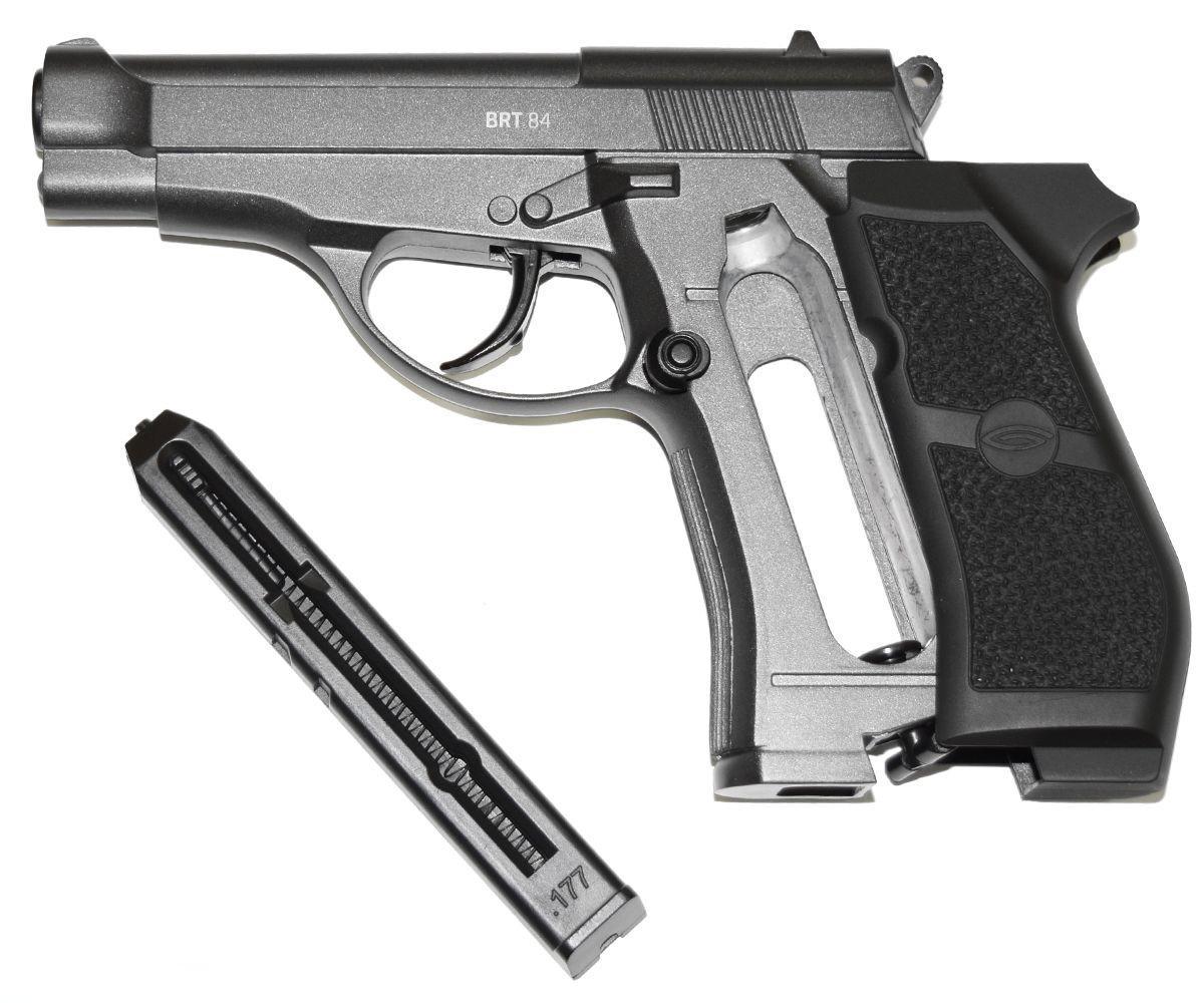 Обзор пневматического пистолета Gletcher Brt 84