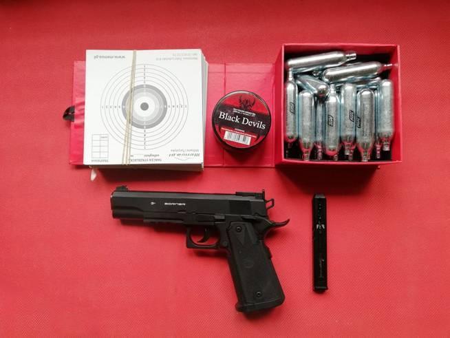Обзор пневматического пистолета Borner Power Win 304