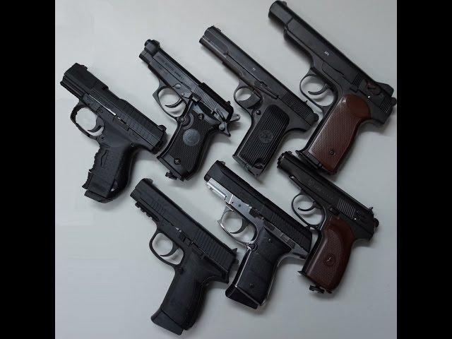 Виды пневматических пулевых пистолетов