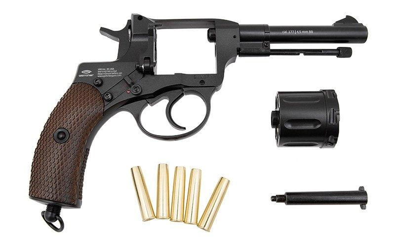 Обзор пневматического револьвера - нагана Gletcher NGT