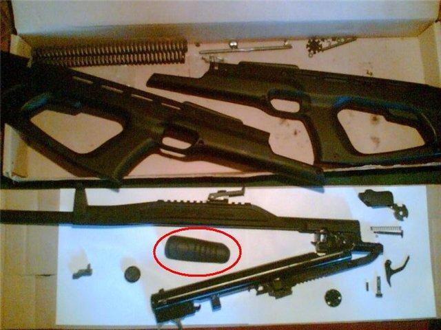 Разборка пневматической винтовки MP-514K